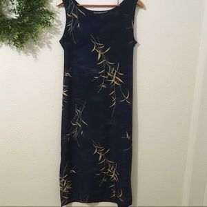 Norton Petites McNaughton Blue Sleeveless Dress